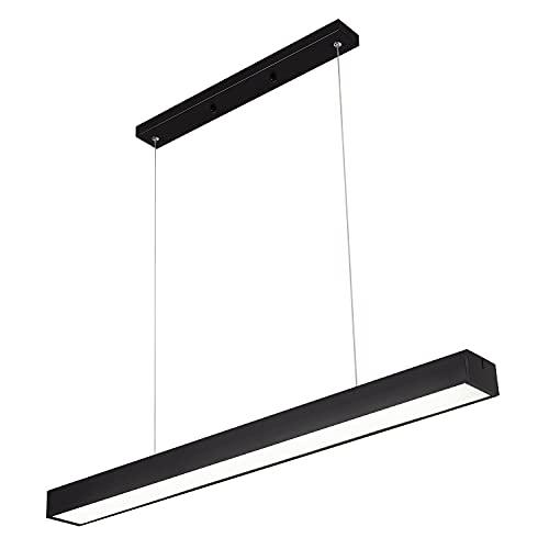 Modern Black LED Kitchen Island Light, 20W 6000K Cool White Pendant Lighting for Kitchen Island Dining Room Meeting Room Living Room