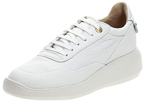 Geox D Rubidia A, Zapatillas Mujer, Blanco (White C1000), 37 EU