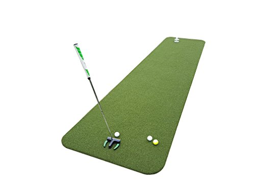 Private Greens Puttmatte | hochwertiger Kunstrasen aus Polyamid | Putting-Matte für Indoor und Outdoor