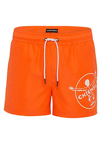Chiemsee Badehose Print am linken Bein M Shock Orange