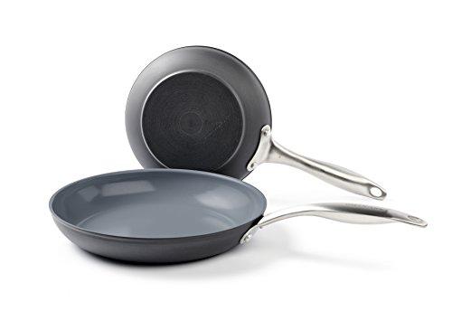 GreenLife CC001580-001 Cookware set, 8'' & 10', Dark Grey