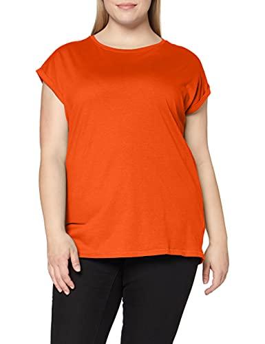 Urban Classics Damen Ladies Extended Shoulder Tee T-Shirt, rust orange, XL