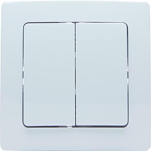 Kopp HK05 822101217 - Interruptor de pared por radio (2 grupos de receptores, módulo electrónico de radio, marco de montaje y 1 tapa, 2 unidades)