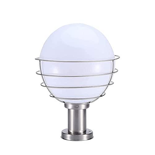 SDFDSSR Columna de luz acrílica Blanca Globo Lámpara de Pilar Exterior Lámpara...