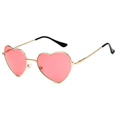 Gafas de sol Diseño De Moda Amor Corazón Gafas De Sol Retro Mujeres Gafas De Sol Rojo Amarillo Rosa Pantalones Para Dama Vintage Gafas Uv400