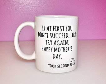 Divertidas tazas de café para el día de la madre, tazas para niños favoritas, tazas para niños favoritos, divertidos regalos para el segundo nacimiento, regalo de cumpleaños para mamá