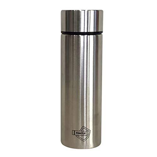 ポケトル 水筒 マグボトル スリムボトル 120mL ステンレス製 シルバー