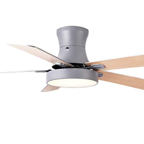 JSY Ventilator aan het plafond lichte eetkamer woonkamer ventilator licht eenvoudig thuis slaapkamer plafond kroonluchter Plafondventilatoren met lamp (Color : Gray, Size : Ceiling section 42 inch)