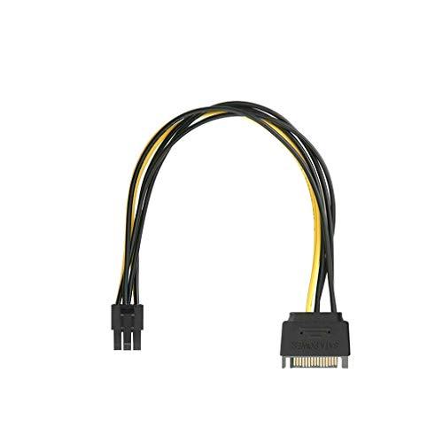 LEVEL GREAT Teng Hong HUI SATA-Stromkabel-Adapter 15-polig auf Adapter 15-polig auf 6-polig Kupferkabel-Adapter-Grafikkarte Stromkabel Adapter