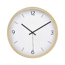 AmazonBasics 12 Dash Wall Clock - Brass