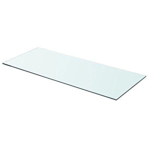 Nishore Regalboden Glas Transparent 70 cm x 30 cm Glasboden Einlegeboden Glasablage Glasregal(Tragfähigkeit 15 kg)