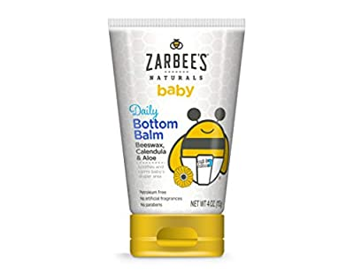Zarbee's Naturals Baby Daily Bottom Balm with Beeswax, Calendula & Aloe, 4 Ounce by ZarBee's