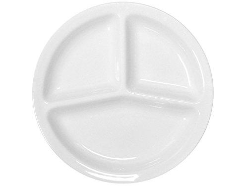 Assiette à apéritifs Napoli en céramique blanche de 30 cm avec 3 compartiments