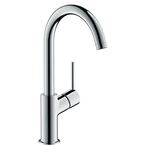 Grifo monomando para lavabo TALIS con boquilla alta orientable 210° y cartucho de 2 velocidades, altura 21 cm, cromado, ref. 32084000