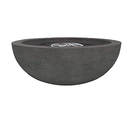 Learn More About Prism Hardscapes Moderno 4 Concrete Gas Fire Pit (PH-404-2LP), Propane, Ebony, 48-I...