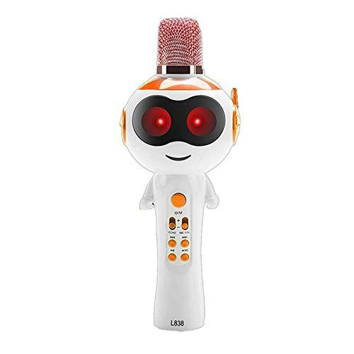 BKAUK Draagbare Kinderen Karaoke Microfoon Cartoon Microfoon Mobiele Telefoon Speaker Beste Gift voor Kinderen
