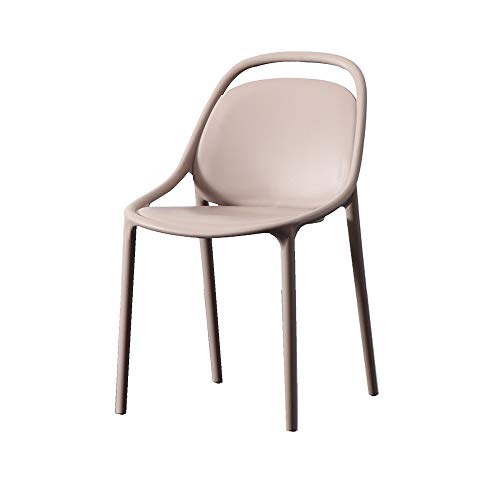 XIAOQIAO Modern Plastic Kitchen Dining Chair Counter Lounge Living Room Corner Chair, Made PP Material, with Comfortable and Ergonomic Backrest