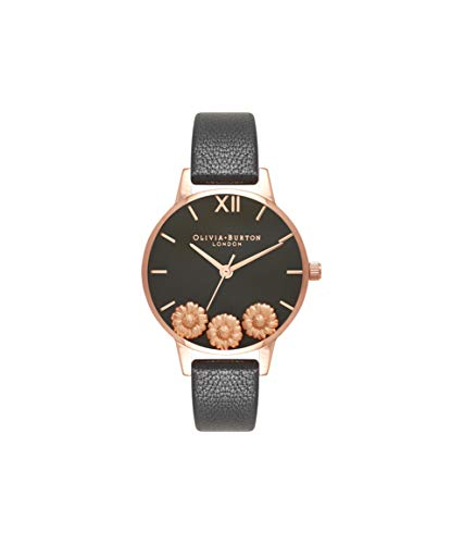 Olivia Burton Damen Analog Japanisch Quarz Uhr mit Echtes Leder Armband OB16CH05