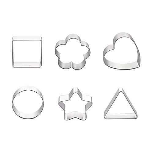 Juego de 6 cortadores de galletas de acero inoxidable para fondant de acero inoxidable y repostería