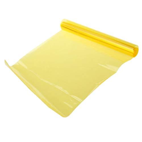 VORCOOL Pellicola adesiva giallo per fari fanali di auto e moto per decorazione e protezione di 40x60 cm