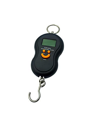 Euroxanty Digital Travel Scales | Portable Luggage Scales | Maximum Weight 50 kg | AAA Batteries Included | Scales with Blue Light | Scales with Hook
