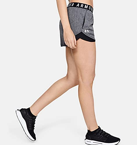 Under Armour Women's Play Up Short 3.0 - Twist , Black (001)/White , Large