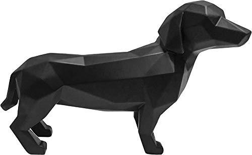 Present Time - Statue Teckel Noir Origami