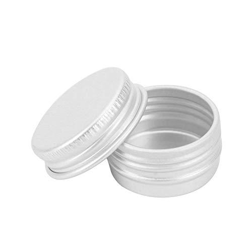 LGYLucky 10pcs capacité 8Types Vide Aluminium crème cosmétique de Maquillage Portable étain récipient vis de Bouteille fileté Derocation Crafts boîte podwer,50 ML