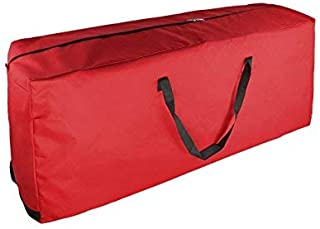 Premium 600D Oxford Christmas Tree Storage Bag - Artificial Up to 6'- 9' Christmas Tree Organizer for Un-Assembled Trees, with Sleek Zipper - Accommodates Holiday Inflatables | Medium / Large