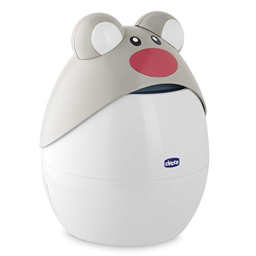Chicco 00009068000000 Apparecchio per Aerosol a Pistone Super Soft Topo, 0m+, Bianco/Grigio