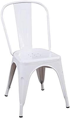 Ventamueblesonline Silla lank Industrial réplica Blanca
