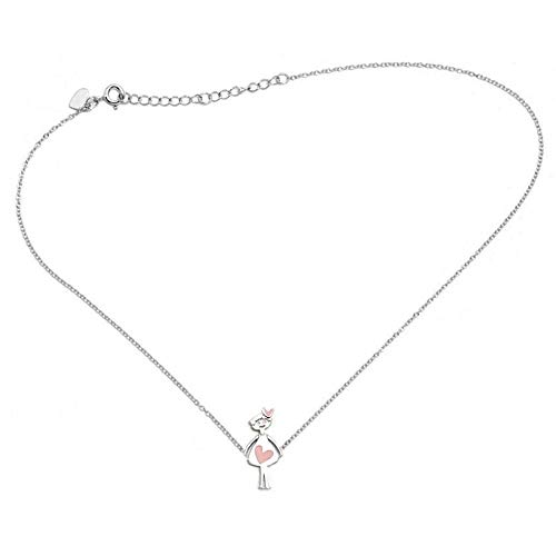 Gargantilla plata Ley 925m Agatha Ruiz de la Prada 41cm. colección New Agathitas muñeca corazón rosa
