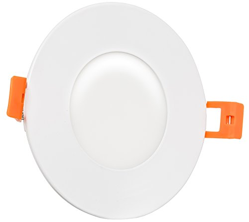 Westgate Lighting 9W 3 Inch Ultra Slim Recessed Light with Junction Box Included - Dimmable - No Housing Required - 120V - Damp Location Rated - Energy Star (5000K Cool White)