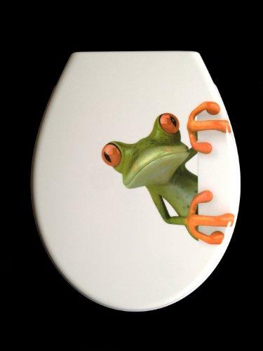Duroplast WC Sitz Klobrille Modell Frosch mit Absenkautomatik, zur Reinigung abnehmbar