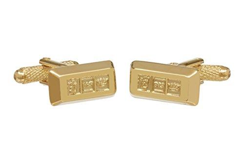 Lingot d'or Boutons de manchette en onyx Art Box – lingot d'or Boutons de manchettes