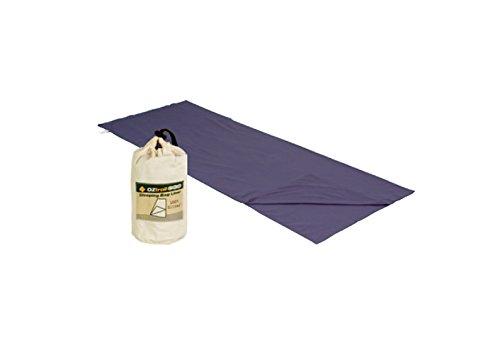 OZtrail Schlafsack Baumwollfutter STD Schlafsack Inlett Cotton für Schlafsäcke aus Pflegeleichte Baumwolle ACS-SLC-B Sleeping Bag Liner Cotton 75x190cm 270gr Grau. Baumwollfutter für Schlafsack.