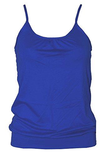 Tanktop voor dames - hemdje - bolvormig/gedrapeerd/swingend - ronde hals/spaghettibandjes