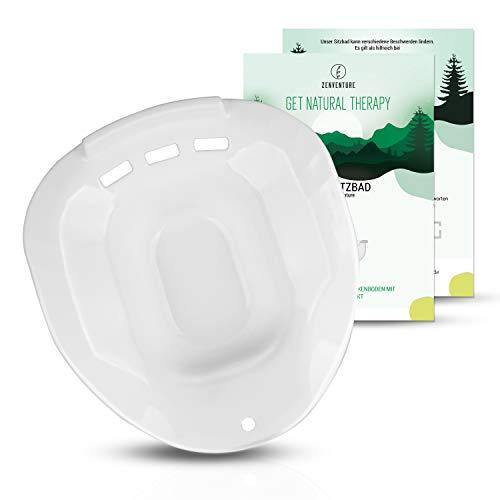 ZENVENTURE Sitzbadewanne - Premium Bidet Einsatz für die Toilette - Sitzbad zur Behandlung von Hämorrhoiden - praktischer Toiletteneinsatz für Schwangere