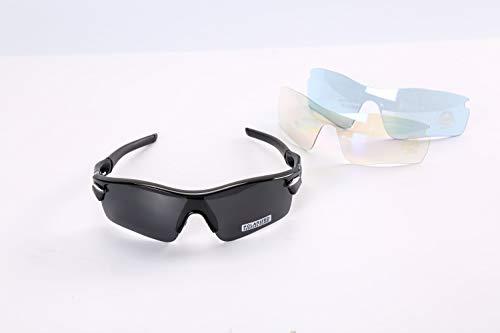 SpartanPac – polarisierte Sport-Sonnenbrille, UV-400-Schutz, mit 2 austauschbaren Gläsern, Sport-Augen-Schutzbrille für Damen und Herren beim Golfen, Radfahren, Angeln, Laufen
