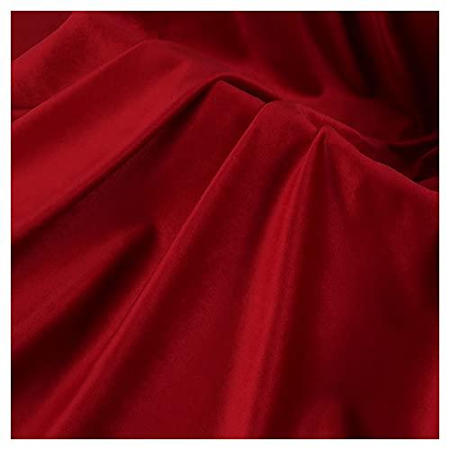 ZSYGFS 150 Cm De Ancho Tela De Terciopelo por Metros para Tapizar Disfraz Decoracin del Hogar Cortinas Tapicera Vestido Sillas Vendido por Metro(Color:Rojo)
