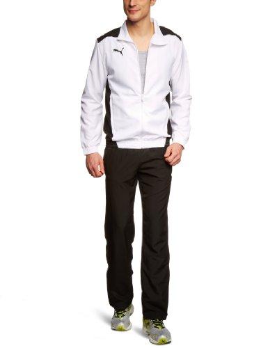 PUMA Herren Trainingsanzug Foundation Woven Suit Präsentationsanzug, White/Black, L