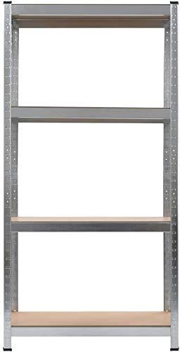 WENXIA Regal in silber aus Stahl und stabilem MDF 80x40x160 cm Regal Vitrinenregal