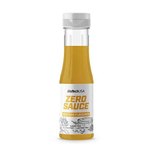 BioTechUSA Zero Sauce Senf, zucker-, gluten-, und laktosefrei, eine fettarme Sauce für Salate, Fleisch und Sandwiches, 350ml