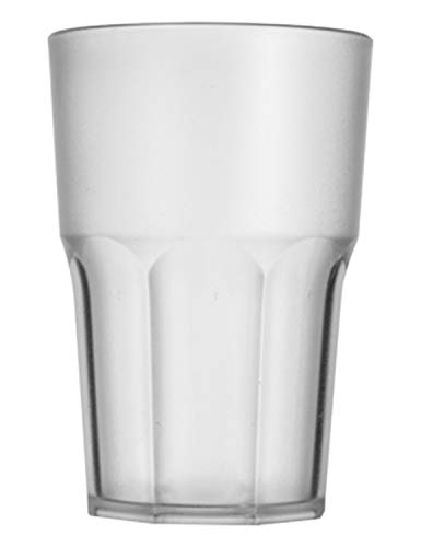 """Garnet Satinato Bicchiere Riutilizzabile """"Granity 40 Set da 6 Pezzi – Lavabile in lavastoviglie-40 Bordo/ 33-35 cl a Servizio-Made in Italy, Plastica"""