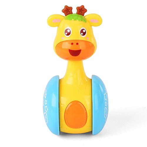 Ponacat Jirafa Tumbler Doll Roly-Poly Juguetes para Bebés Lindos Sonajeros Juguetes para Recién Nacidos de 3 a 12 Meses Bebés Niños Niñas Regalos de Cumpleaños de Navidad