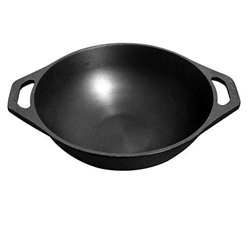 Dynamic Cookware Premium Flat Base Cast Iron Kadai