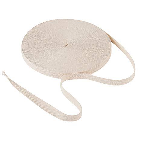 Craftdady - Nastro in twill di cotone, 54,68 m, larghezza 22,9 cm, naturale a spina di pesce a spina di pesce, nastro sbieco per lavori fai da te e lavori di cucito a maglia, confezione regalo