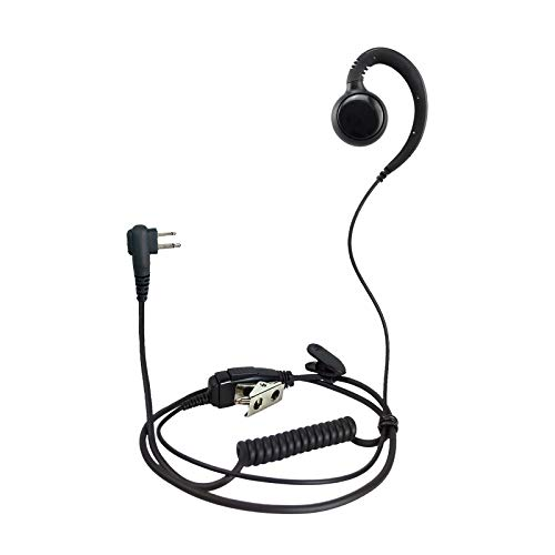 ProMaxPower Two Way Radio Swivel Headset Earpiece PTT for Motorola CP88 CP100 CP200D CLS1110 CLS1410 (10 Pack)