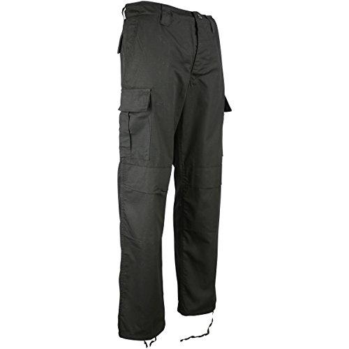 Kombat UK M65 BDU Ripstop Pantalon pour Homme, Homme, 0609613770623, Noir, 30
