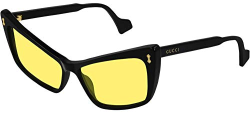 Gucci GG0626S - Gafas de sol para hombre, color negro y amarillo